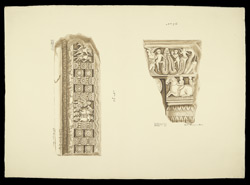 Fragments of a drum frieze panel and of a drum slab from the Great Stupa of Amaravati